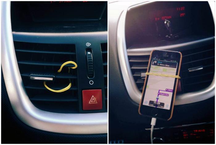 Самодельный держатель для смартфона. | Фото: www.pinterest.ph.