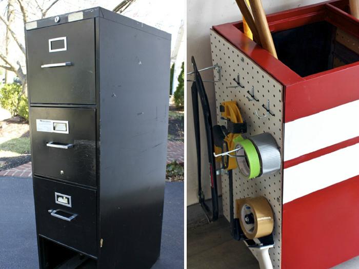 Обновленный металлический шкафчик. | Фото: newpict.icu.