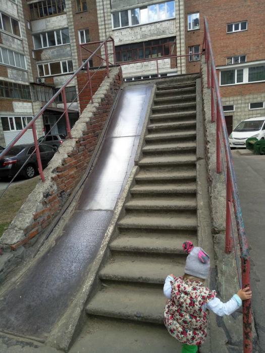 Лестница-горка. | Фото: Юмор каждый день.