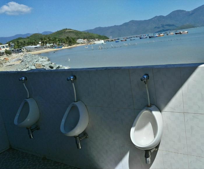 Туалет с роскошным видом. | Фото: Пикабу.