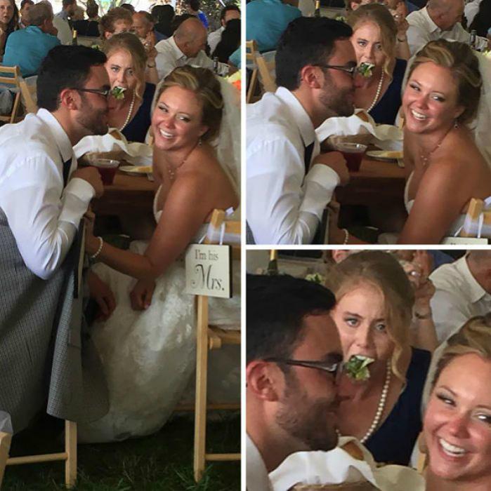 Колоритная гостья на свадьбе.