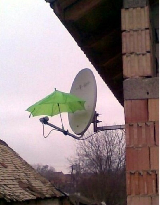 Зонт решает. | Фото: Позитивчик.
