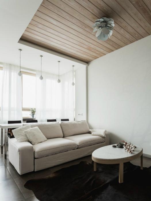 Чудесный дизайн светлой гостиной.