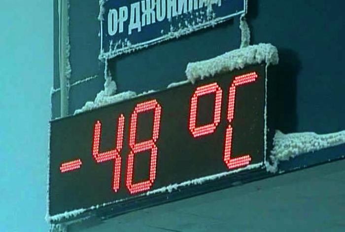 Экстремальная температура.