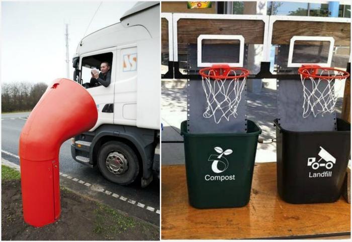 Необычные мусорные контейнеры. | Фото: kalaputski.ru.