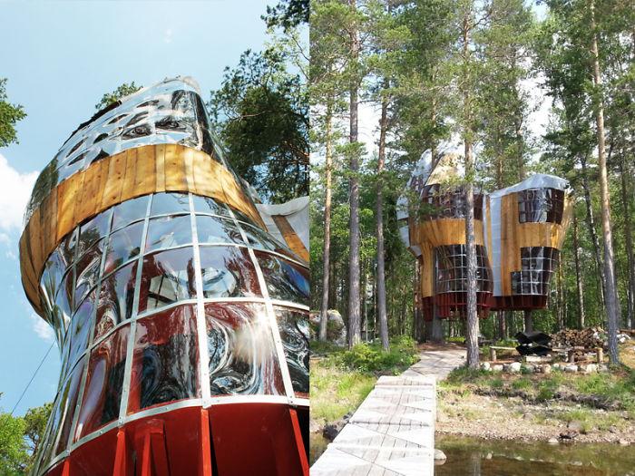 Футуристический дом на дереве.