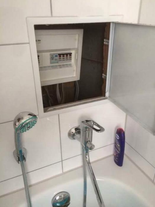 Электросчетчик - лучшее украшение ванны.