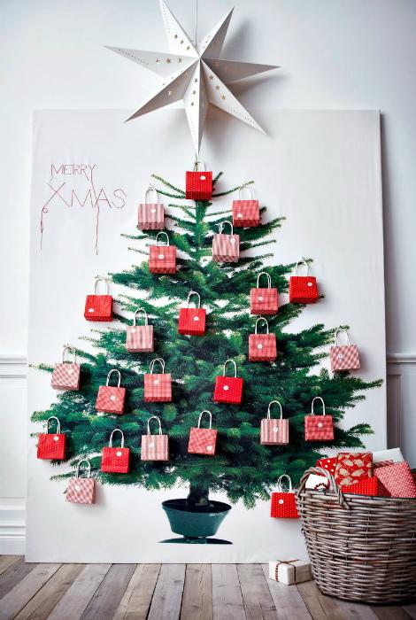 Плакат с изображением елки.