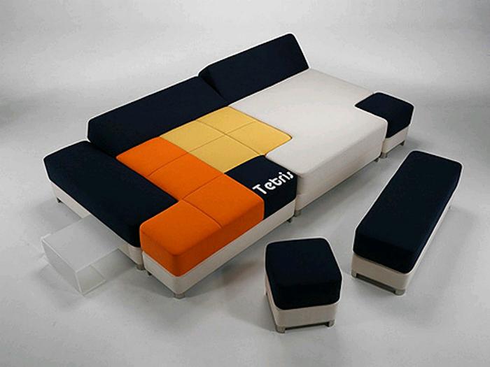 Диван, который состоит из множества мягких блоков от дизайнера Стэфано Граселли.