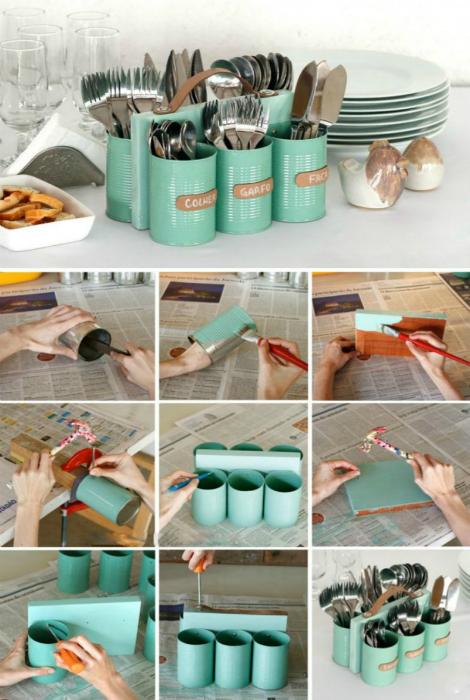 Подставка для приборов столовых своими руками
