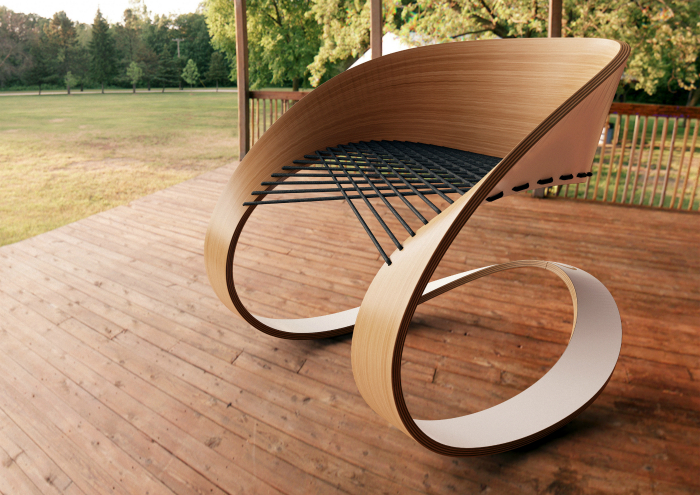 Кресло-качалка от Guido Lanari.