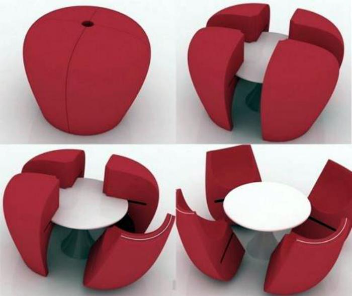 Набор из стола и стульев. | Фото: www.javajan.com.