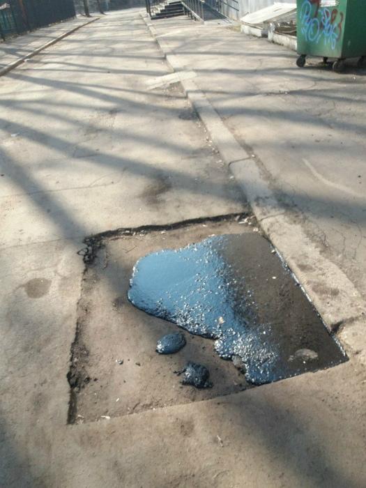 «Качественный» ремонт дороги.