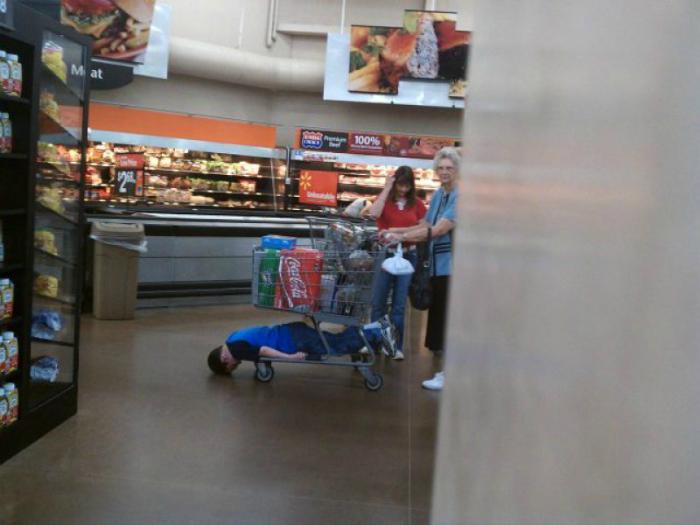 Жертва шопинга.