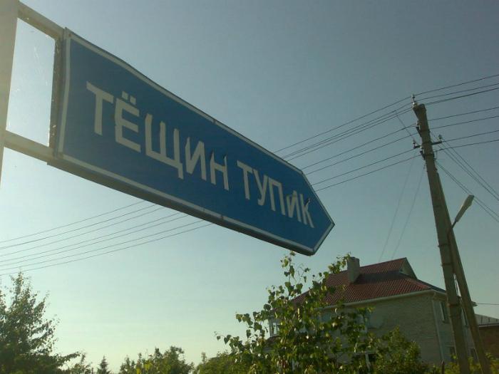 Название улицы.