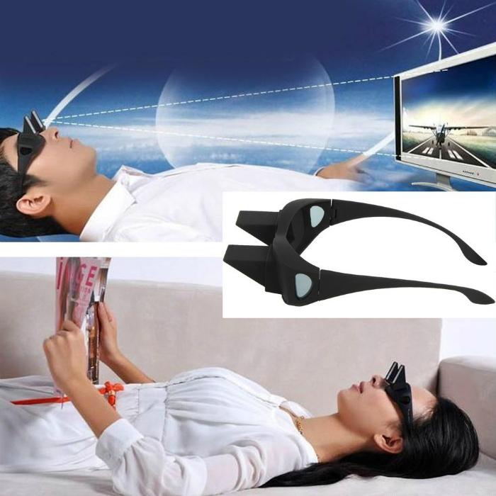 Забавные очки, которые позволят читать или смотреть телевизор, не поднимая головы.