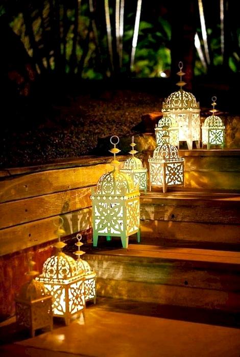 Фонарики в марокканском стиле.