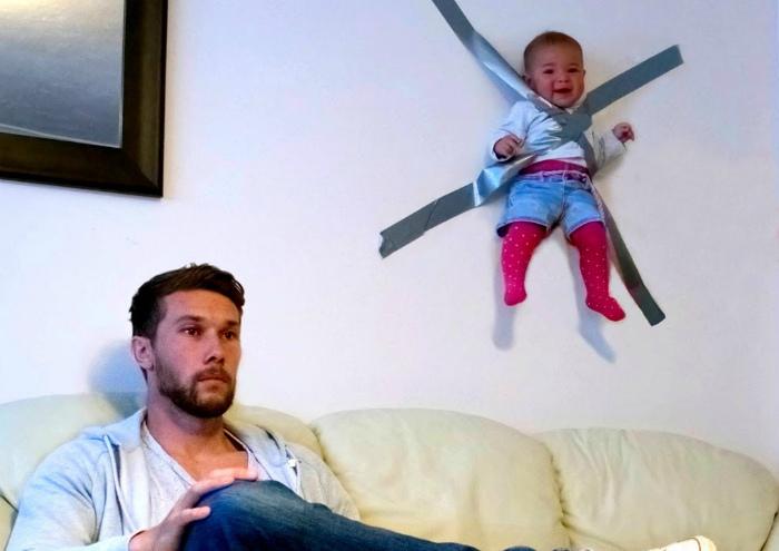 Лайфхак для тех кто сидит с ребенком.
