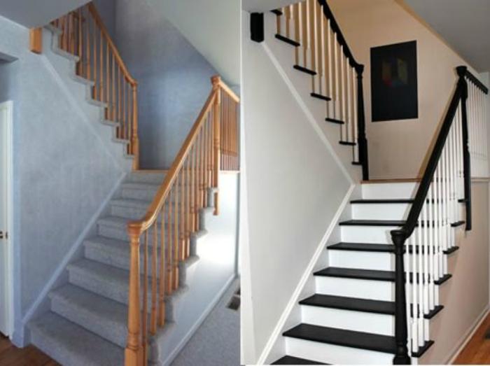 Новый вид лестницы.
