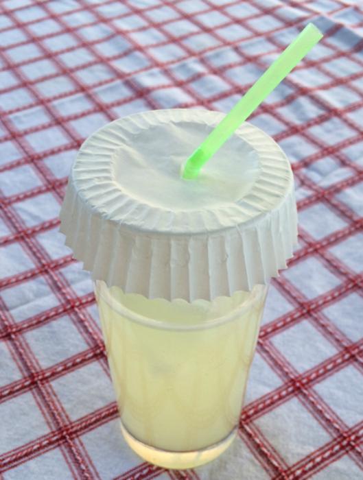 Защита напитков от ос и насекомых.
