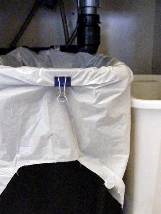 Фиксация пакта для мусора.