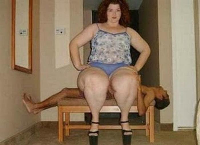 Крупная женщина и ее «стальной» муж.