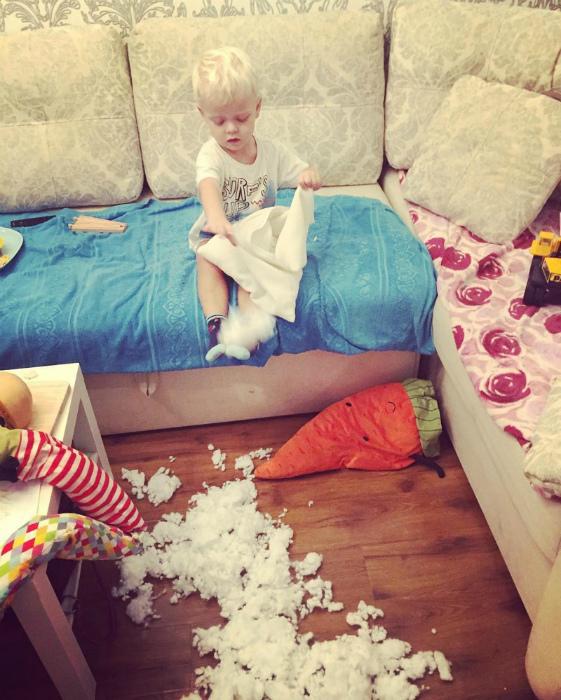 «Докладываю: внутри подушки, сокровищ не обнаружено!» | Фото: Fishki.