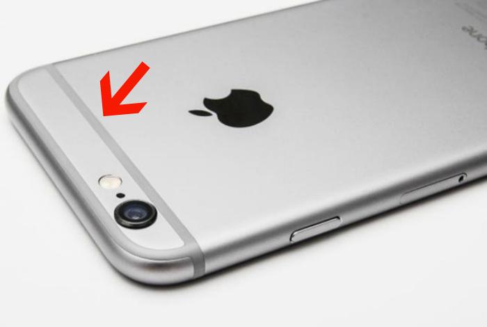 Полоски на Iphone 6.