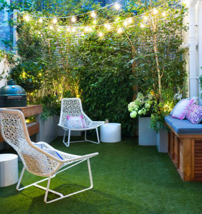 Патио для двоих. | Фото: Home Decor Ideas.