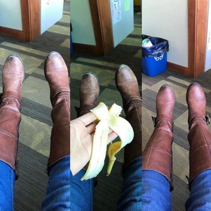 Придаем обуви блеск. | Фото: Notinerd.