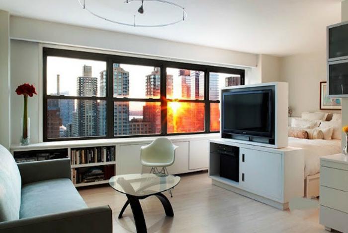 Однокомнатная квартира в современном стиле.