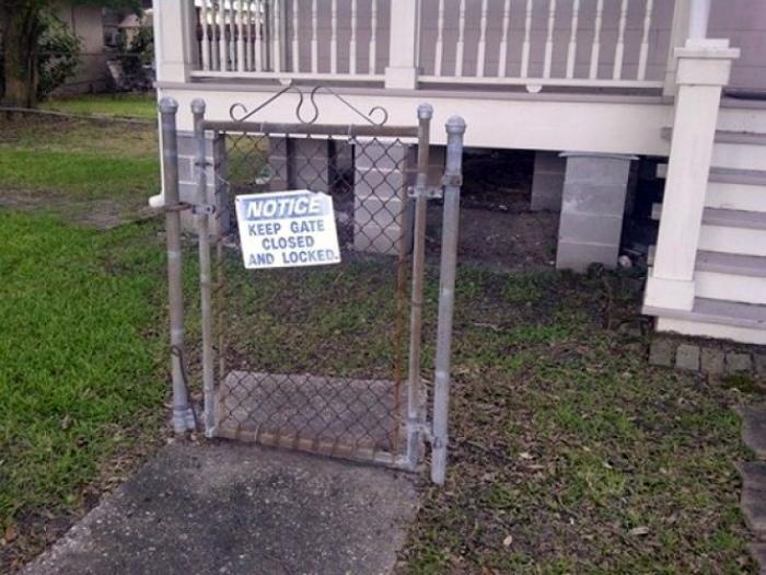 Невидимый забор.