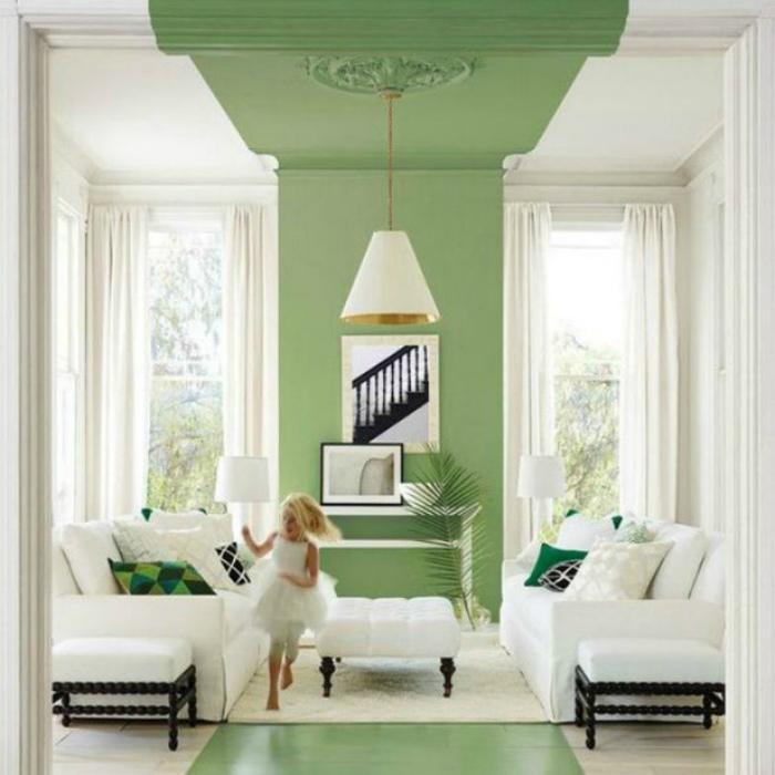 Необычная покраска пола, стен и потолка.