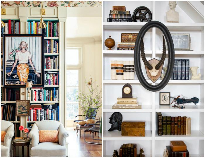 Декор книжных шкафов.