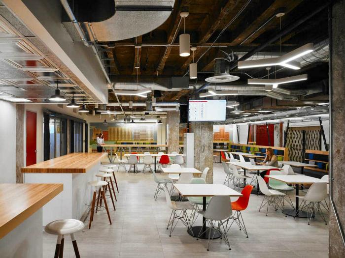 Офис в индустриальном стиле.
