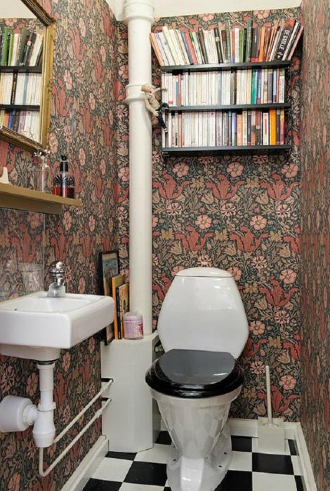 Туалет в классическом стиле. | Фото: HappyModern.RU.
