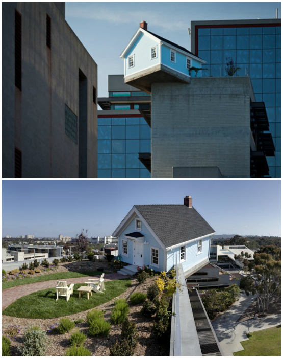 Жилой дом на крыше школы.