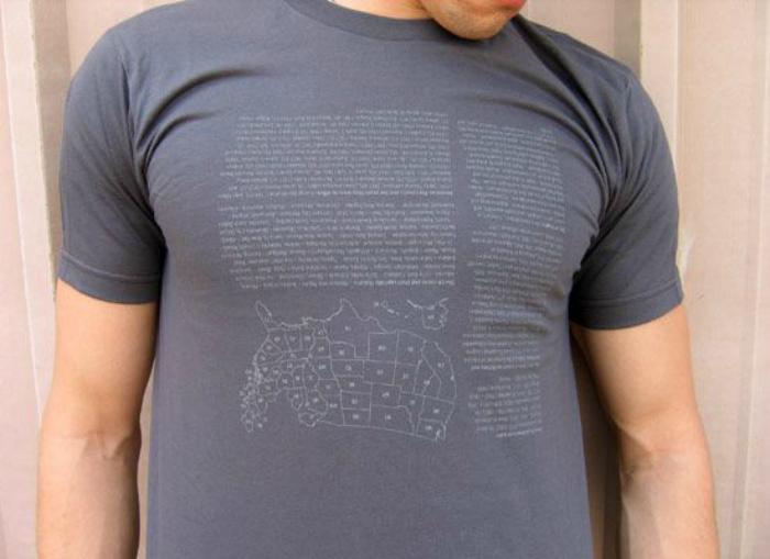 Печать на футболке.