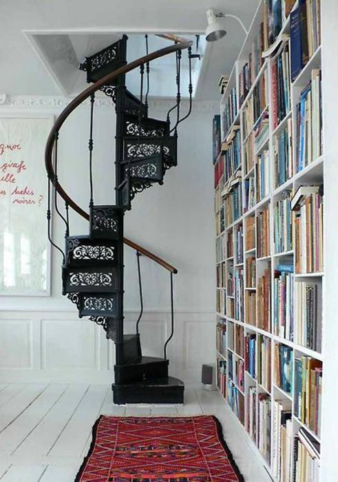 Оригинальный дизайн винтовой лестницы.