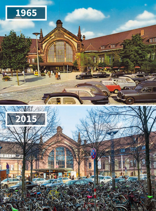 Центральный вокзал Оснабрюка, Германия, 1965 - 2015.