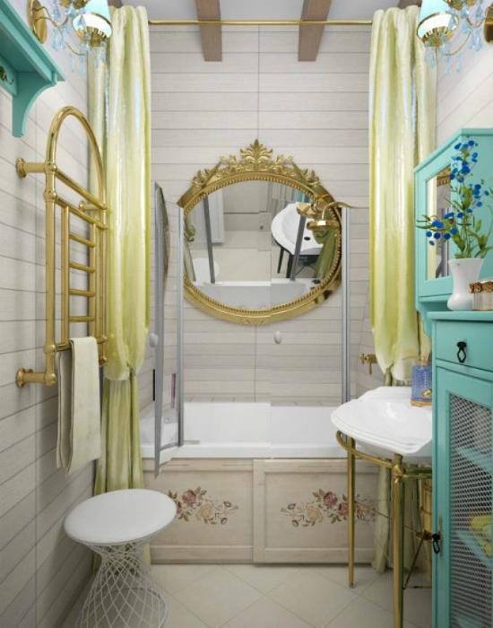 Уютная ванная комната в стиле прованс.