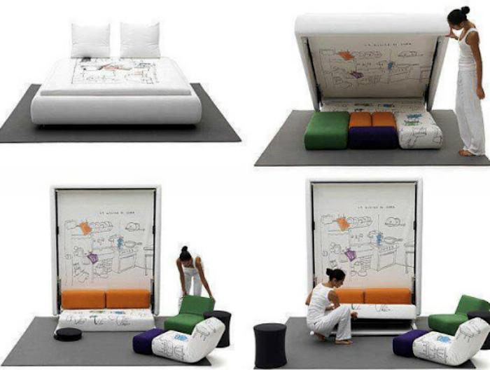 Подъемная кровать с секретом.