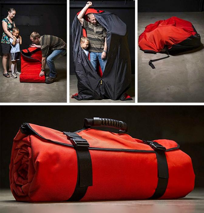 Сверхпрочный спальный мешок для всей семьи.