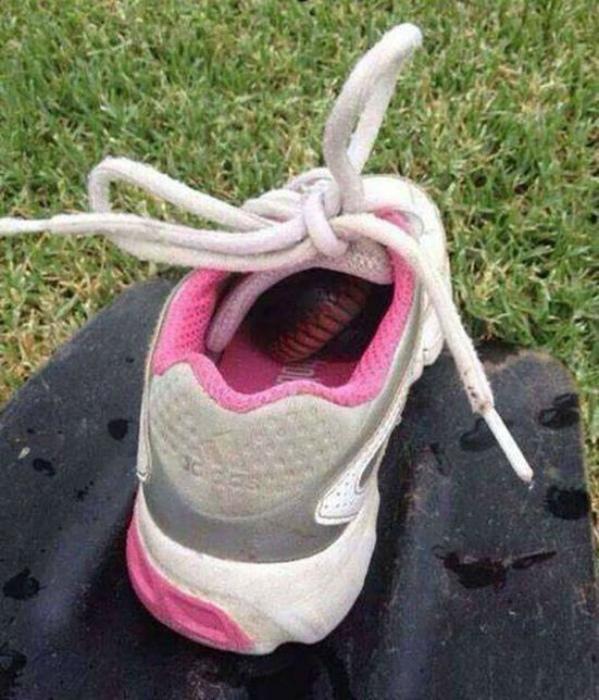 Сюрприз в кроссовке.