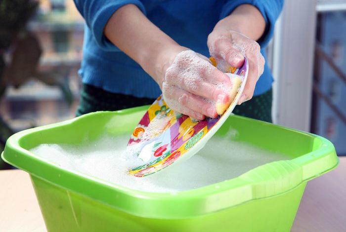Эффективное средство для мытья жирной посуды.