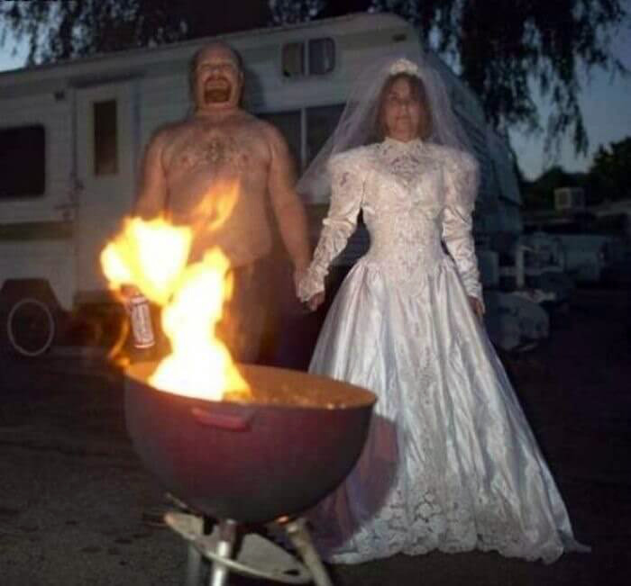 Скромная свадьба. | Фото: TopBlogPost.