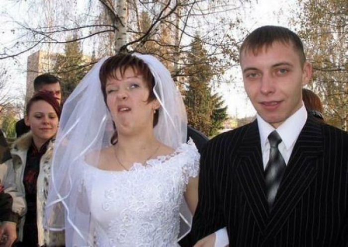 Красивая невеста.