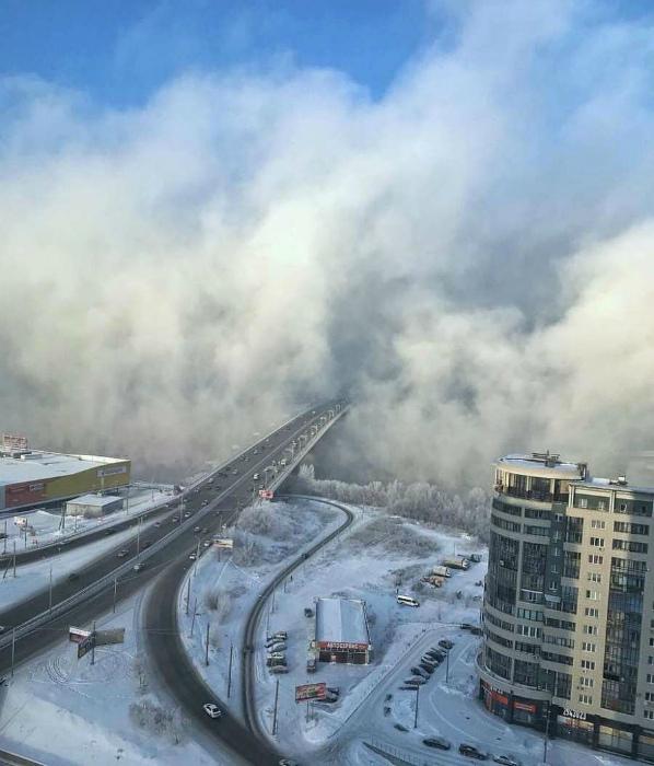 В плену тумана. | Фото: Reddit.
