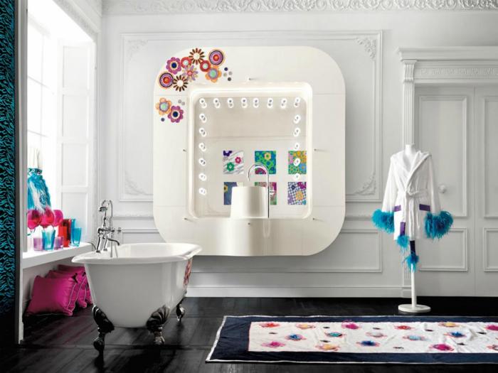 Ванная комната в стиле гламур.