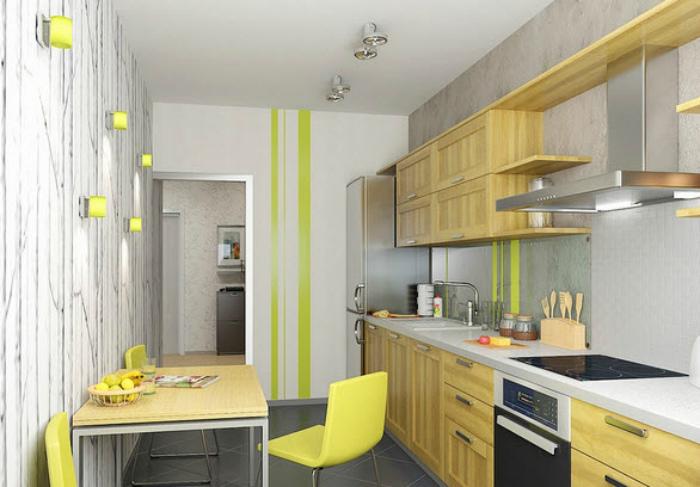 Светлая кухня с лимонными акцентами. | Фото: DesignMyHome.